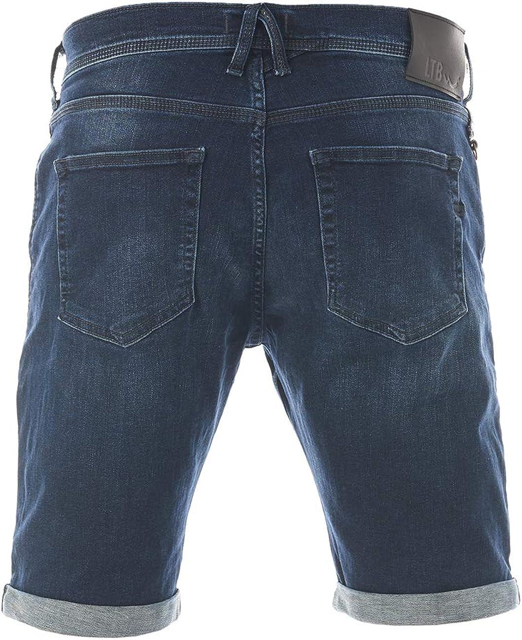 algod/ón, cortos, tallas S, M, L, XL, XXL, 3XL, 4XL, 5XL LTB Corvin Pantalones cortos para hombre color azul oscuro y negro