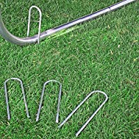 Eurmax Trampolines Wind Stakes 0 35 Inch Heavy Duty Stake Safety Ground  Anchor Galvanized Steel Wind Stakes, 6pcs-Pack
