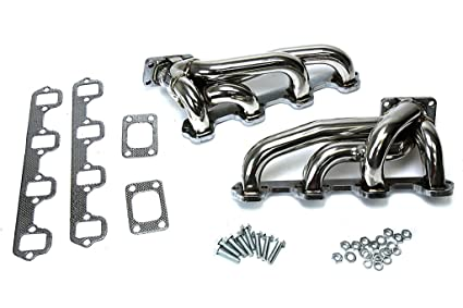Stainless Steel Manifolds Headers for 79-95 Ford Mustang 5.0 V8 T3 T4 Twin Turbo