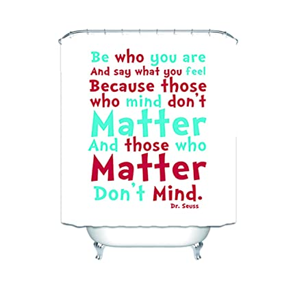 Quotes From DrSeuss Bathroom Waterproof Shower Curtain 60X72 Inch
