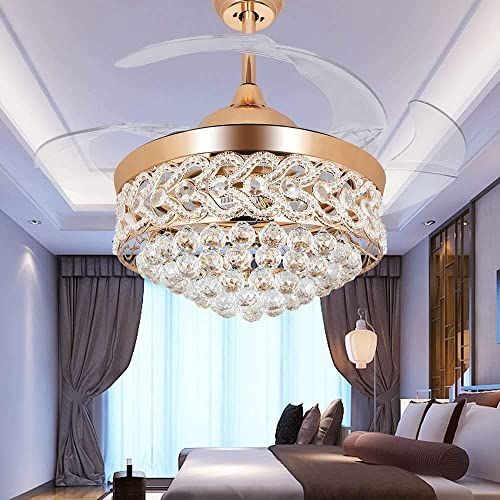 Kankanray 42'' Crystal Fandelier Luxury Ceiling Fan Light