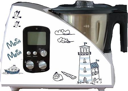 Pegatinas de faro azul para el robot de cocina Monsieur Cuisine: Amazon.es
