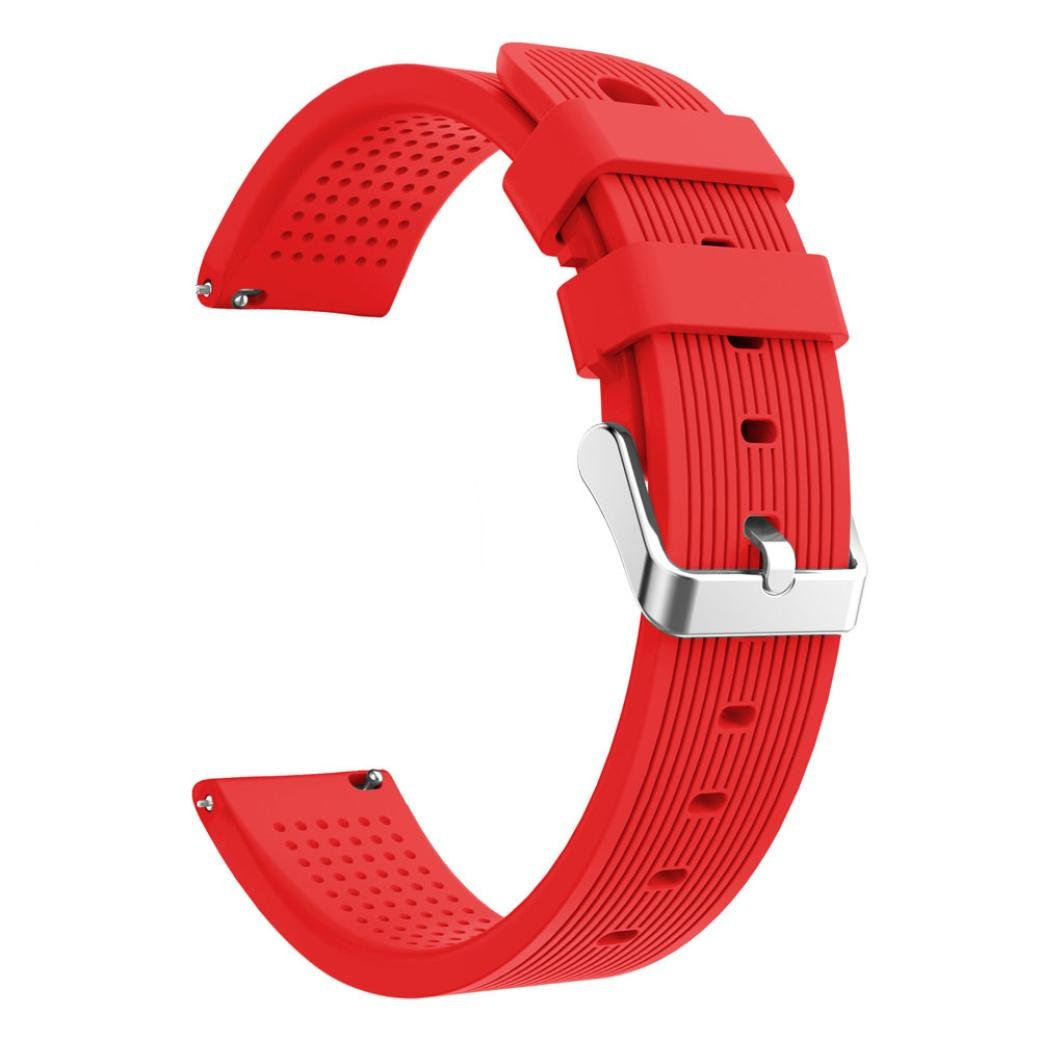 SUKEQ For Xiaomi Amazfit Bip Band, Soft Silicone Sport Replacement Strap Accessory Watch Band Wirstband For Huami Amazfit Bip Youth Watch (Red)