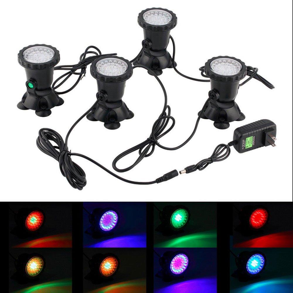 LED Spotlight Lamp - BANGWEIER Underwater Lights Garden Fountain Fish Tank Pool Pond 36 LED Spotlight Lamp