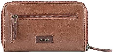 THE SAK   Leather  Phone Friendly  Silverlake Zip Around Black  Wallet  MSRP $79