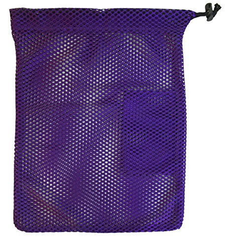 Mesh Toe Shoe Bag with Drawstring and Toggle (Purple)