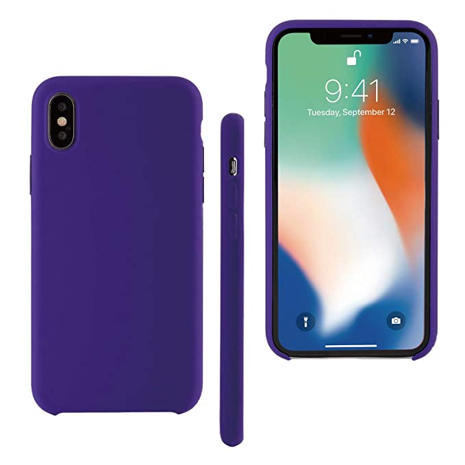 timeless design b9538 2c2b7 Seasonal Discovery Silicone case for iPhone X Liquid Silicone Silky Ultra  Soft Exterior Touch Microfiber Lining Inside Great Protection for iPhone X  ...