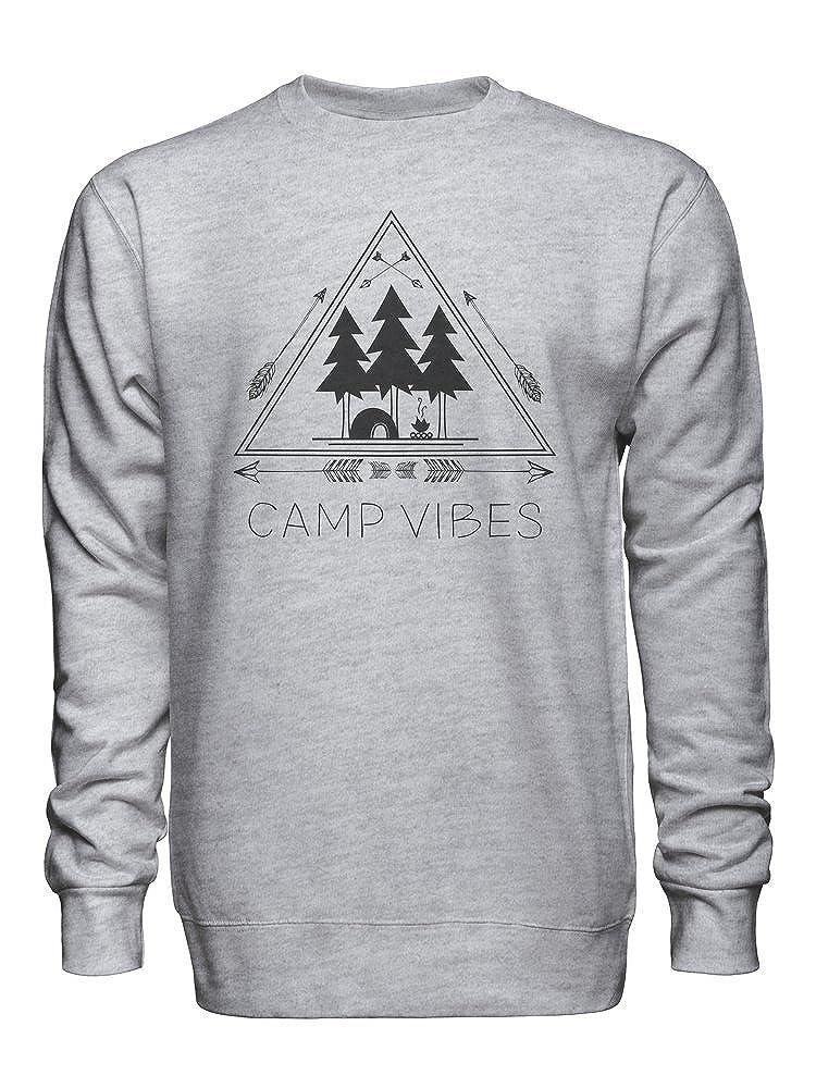 Camp Vibes Original Design with Arrows and Trees Unisex Crew Neck Sweatshirt
