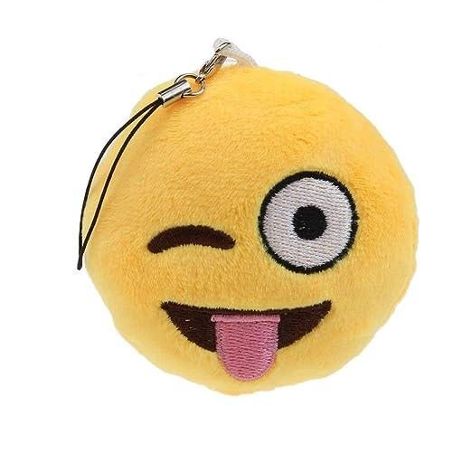 Ogquaton - Llavero de emoticono de alta calidad con forma de ...