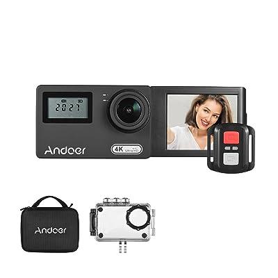 'Andoer AN3004K WiFi 16MP caméra d'action novatek 96660Double écran 2LCD Grand Angle 170° Rotatif 30m étanche avec télécommand