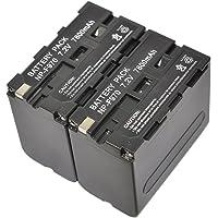 2X NP-F970 Battery for Sony NPF970 NP-F330 NP-F530 NP-F550 NP-F570 NP-F750 NP-F770 NP-F930 NP-F930/B NP-F950 NP-F950/B NP-F960 NP-F970/B