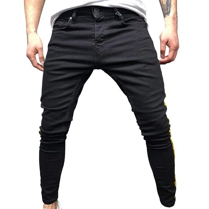Bolsillos Laterales Transpirable CóModo Pantalones de Hombre ...