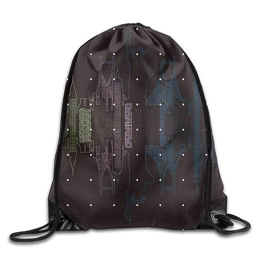 Amazon Com Drawstring Bag Gym Bag Travel Backpack New York City