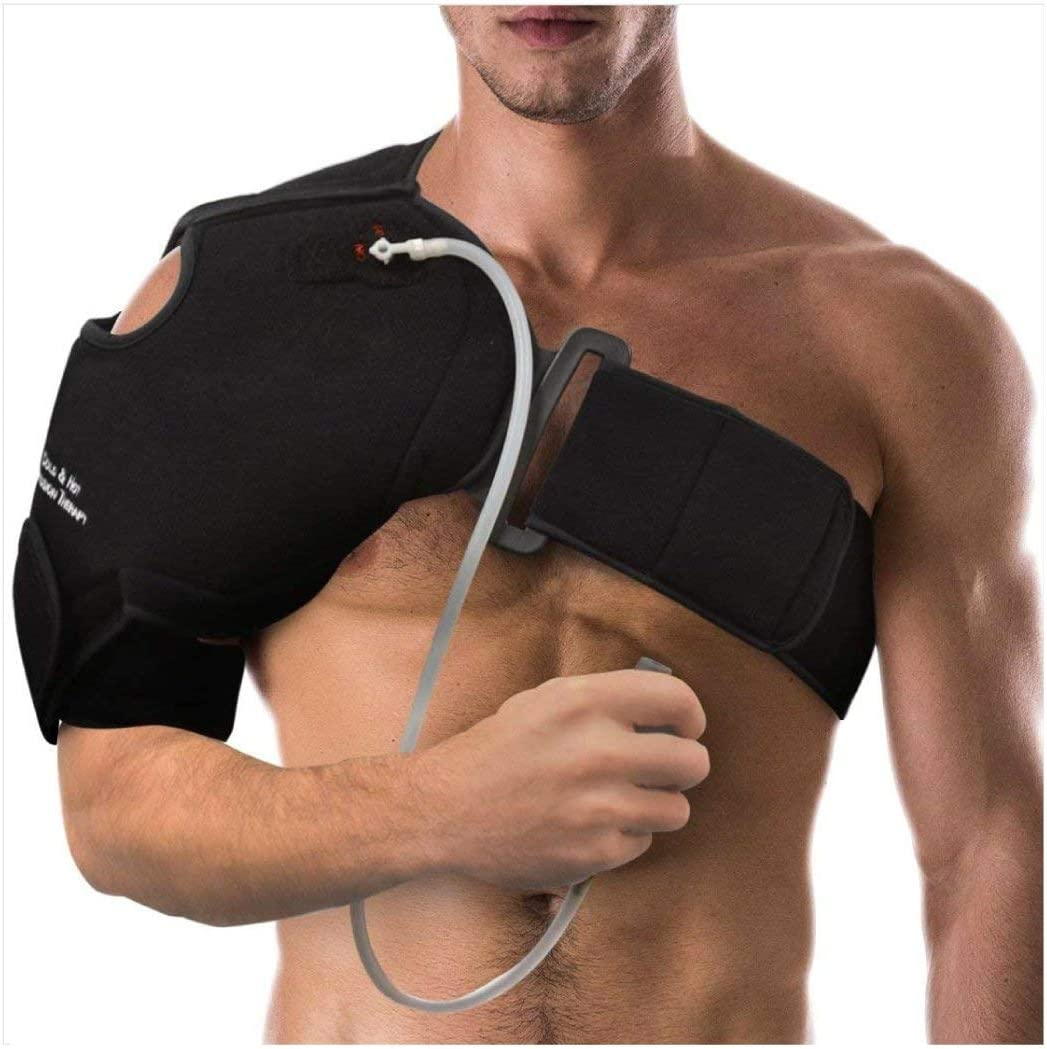 NatraCure Hot/Cold & Compression Shoulder Support 6032 - (Left/Right Shoulder Brace) - (for Shoulder Sprains, Strains and Post Rotator Cuff Surgery): Health & Personal Care