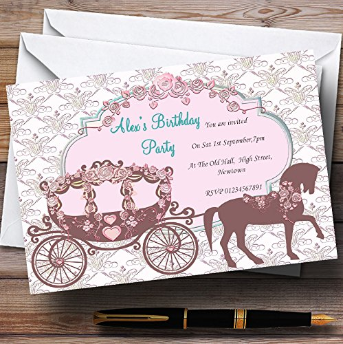Horse And Carriage Vintage Chic Princess Theme Personalized Birthday Party In...