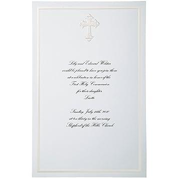 amazon com wilton faith cross invitations kitchen dining