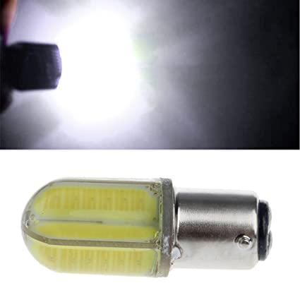 Amazon.com: Bottone DC 10-30V 1157 BAY15D P21/5W 8 COB LED Car Tail Bulb Brake Light Turning Lamp (White): Automotive