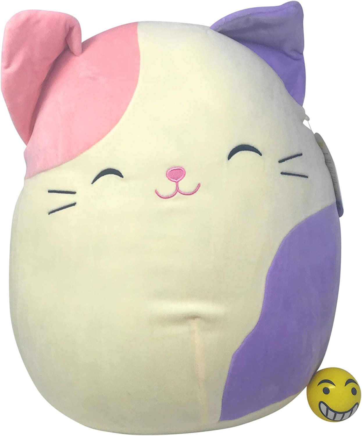 Squishmallow 16 Charlotte The Cat with Emoji Stress Ball.