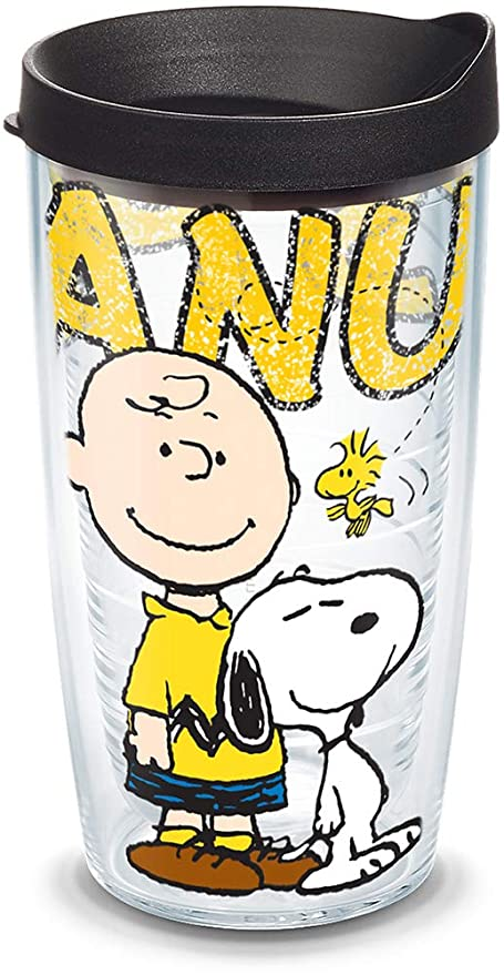 16-Ounce Tervis Peanuts Colossal Tumbler with Black Lid