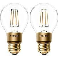 Smart Vintage gloeilamp Meross WLAN gloeilamp dimbare LED-lamp, Smart Edison retrolamp warm wit, compatibel met Alexa…