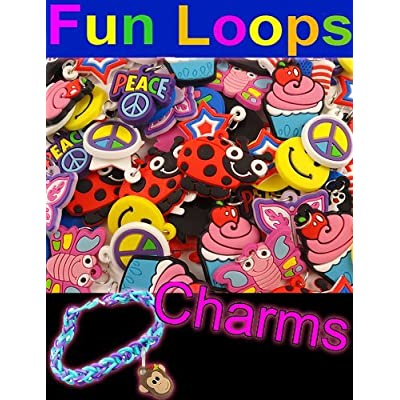 12 Pack of Charms For Rubberband Loom Bracelets: Toys & Games