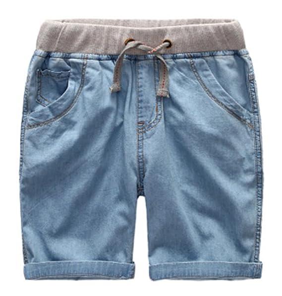 Jeans elásticos de los niños Pantalones Vaqueros del Verano Pantalones Ajustables Pantalones Cortos Jeans bebé Mameluco