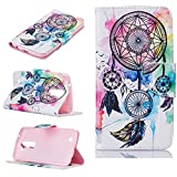 LG K10 Case, LG Premier LTE Wallet Case, Jenny Shop Pocketbook Design PU Leather Magnetic Flip Wallet Case with Card Holders Magnetic Closure for LG K10 / Premier LTE (Feather Windbell) For Sale