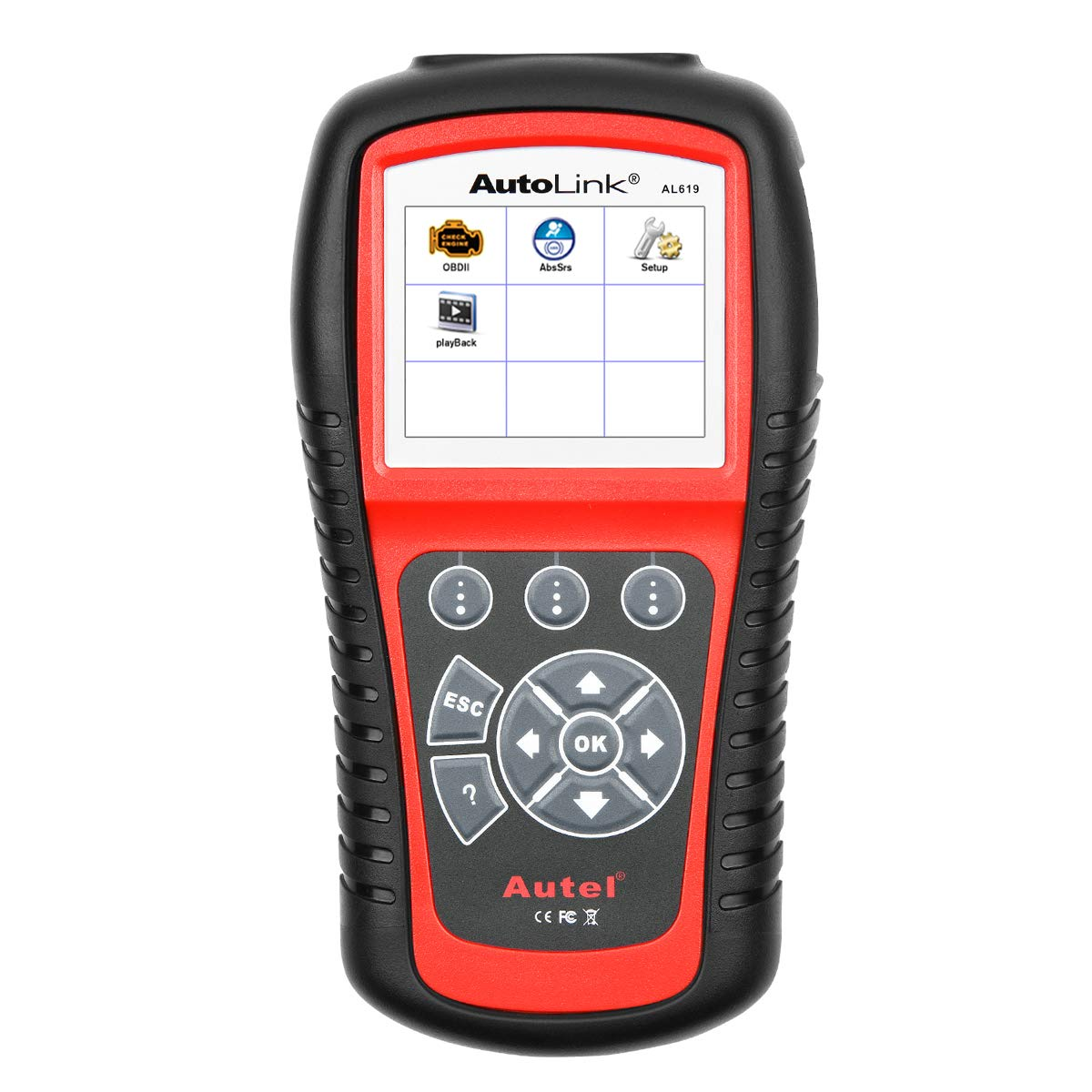 Autel AutoLink AL619 OBD2 Scanner ABS/SRS Diagnostic Scan Tool,Turns Off Engine Light (MIL) and ABS/SRS Warning Lights,Same Function as The ML619 Code Reader by Autel (Image #1)