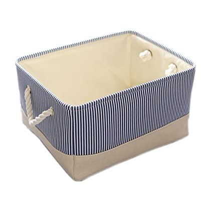 Attrayant TheWarmHome Basket For Dog Toy Storage,Blue Storage Basket,Decorative  Basket For Gifts Empty