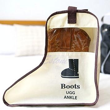 Xuniu Bolso Organizador de Almacenamiento de Zapatos, Botines de Lluvia de Larga duración Zapatos de Cuero de Viaje Travel-Beige: Amazon.es: Hogar