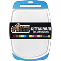 GORILLA GRIP Original Reversible Cutting Board, Large Size, 16 Inch x 11.2 Inch, BPA Free, Juice Grooves, Thick Board…