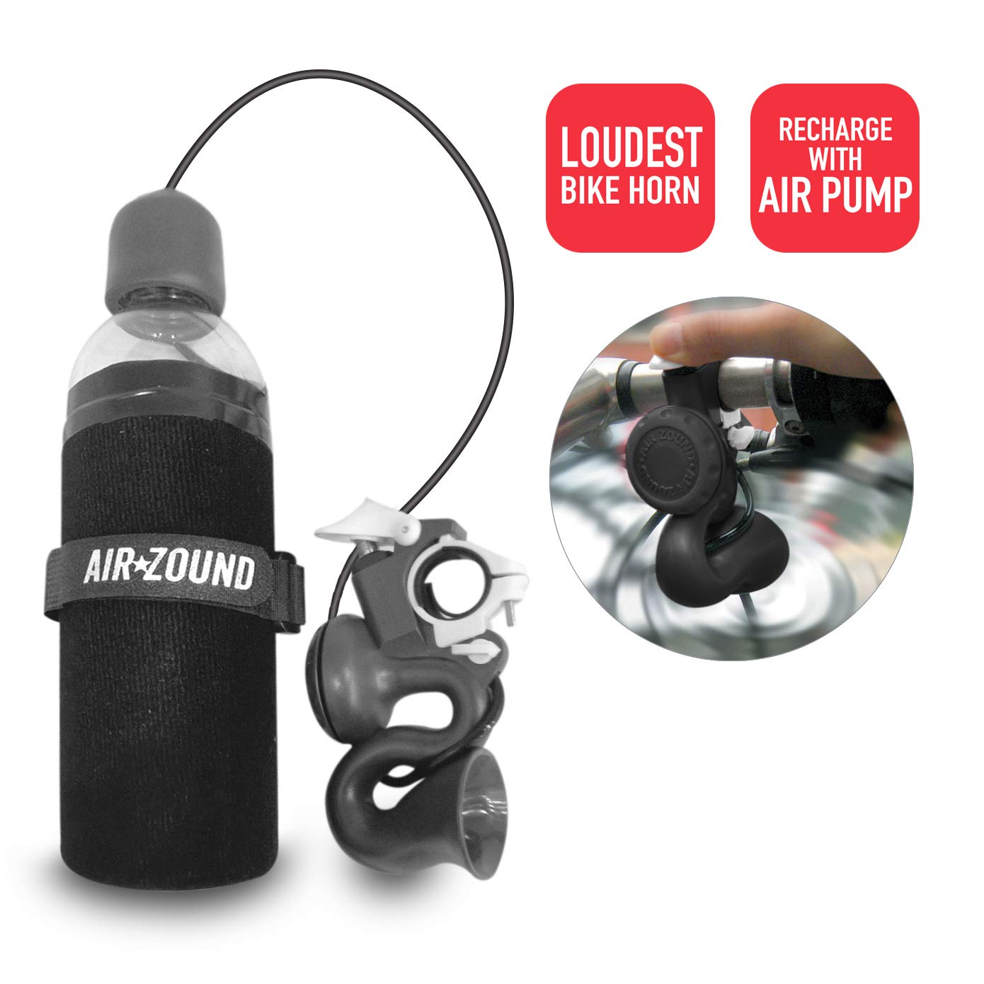Delta Cycle Airzound Very Loud Bike Horn Air Hooter | Rechargeable Bell Siren Alarm Super dB