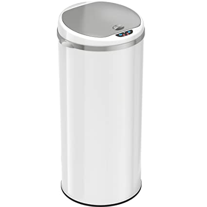 Amazoncom Itouchless 13 Gallon Automatic Trash Can With Odor