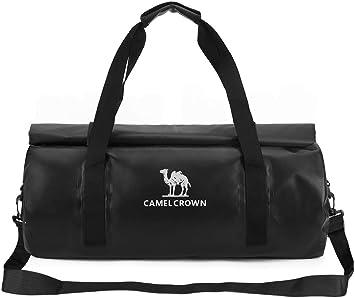 92bef93be9fd9 CAMEL CROWN 40L Wasserdicht Reisetasche Sporttasche Praktische  Trainingstasche Camp Tasche mit Vielen Fächern Schultergurt Reißverschluss  Duffel