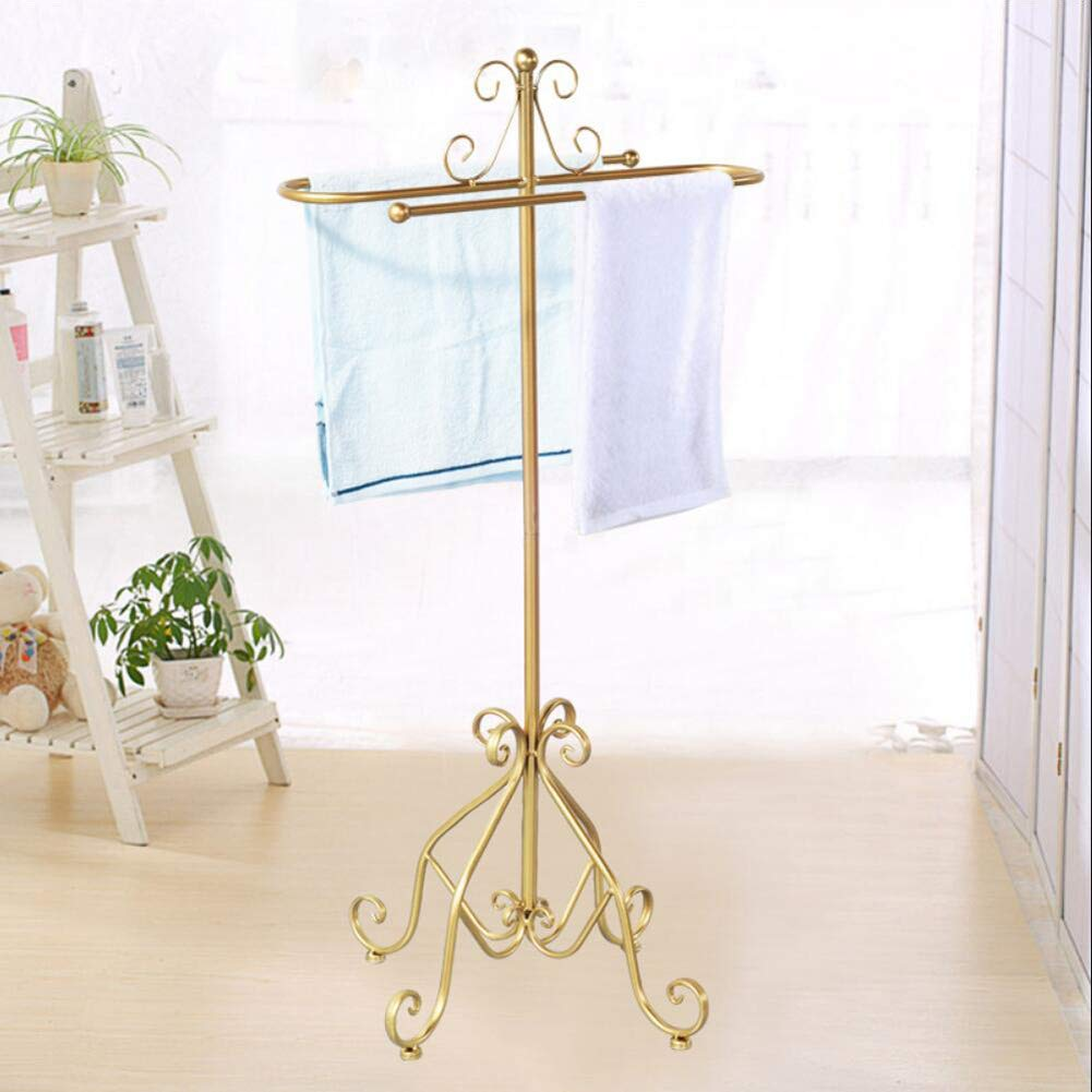 Free Standing Metal Coat Rack Towel Rail Holder Heavy Duty Towel Clothes Organizer Stand, for Bathroom Bedroom