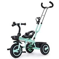 Fascol Triciclo Bebé con Mango Trike Smart Bici para Niños, 18 Meses - 5 Años,hasta 30kg,Verde