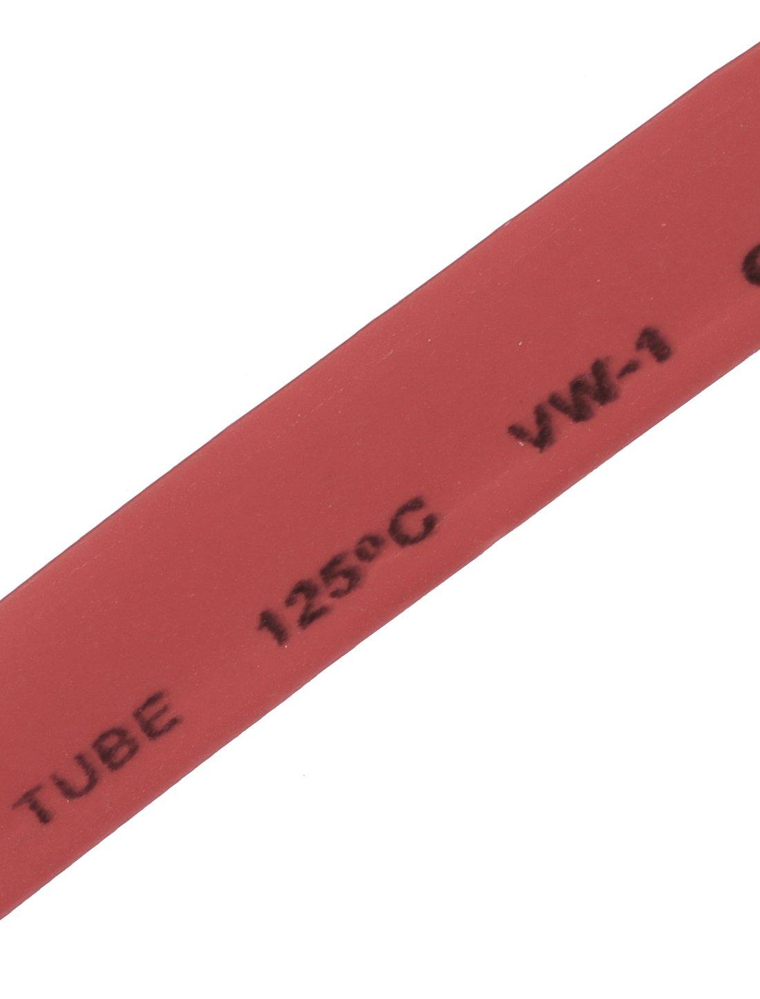 sourcingmap/® Rouge 8mm Diam/ètre 2:1 Polyol/éfine Gaine thermor/étractable Tuyau r/étractable 9M 30Ft Long