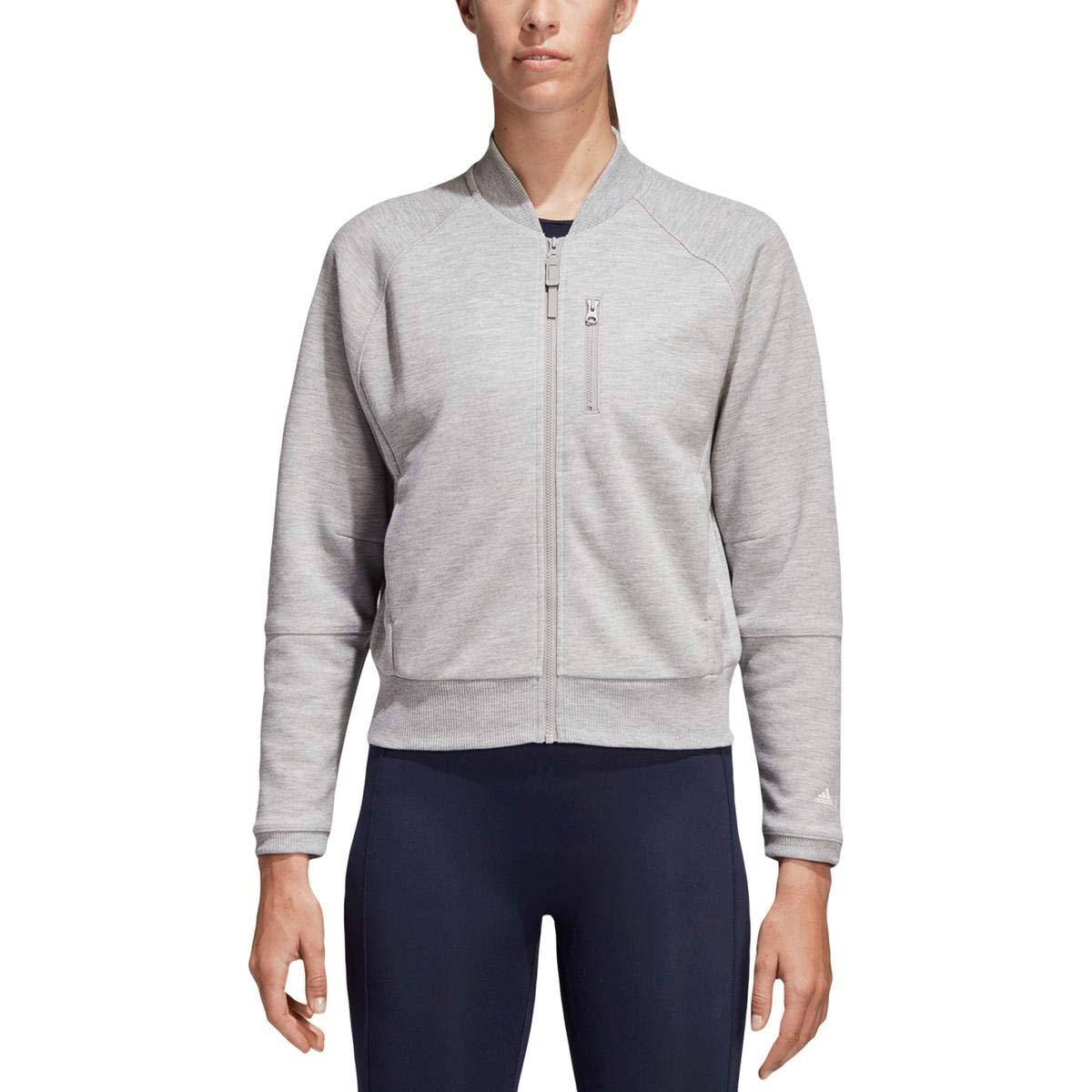 adidas Womens Wanderlust Yoga Fitness Athletic Jacket Gray S ...