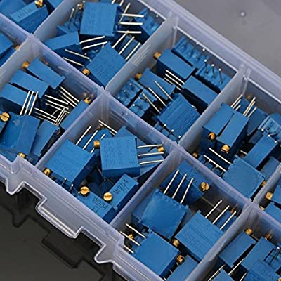 BephaMart 10 Value 100pcs 100?~1M? Trimmer Resistor Trim Pot Potentiometer Kit from BephaMart