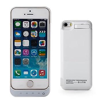 ZOGIN Funda Protectora Cargador con Batería 4200mAh Funda de Batería Externa para iPhone 5 / 5C / 5S, Color Blanco
