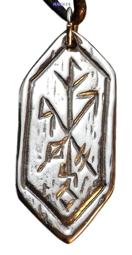 Amazon Strength Of Self Rune Pewter Pendant Celtic Norse
