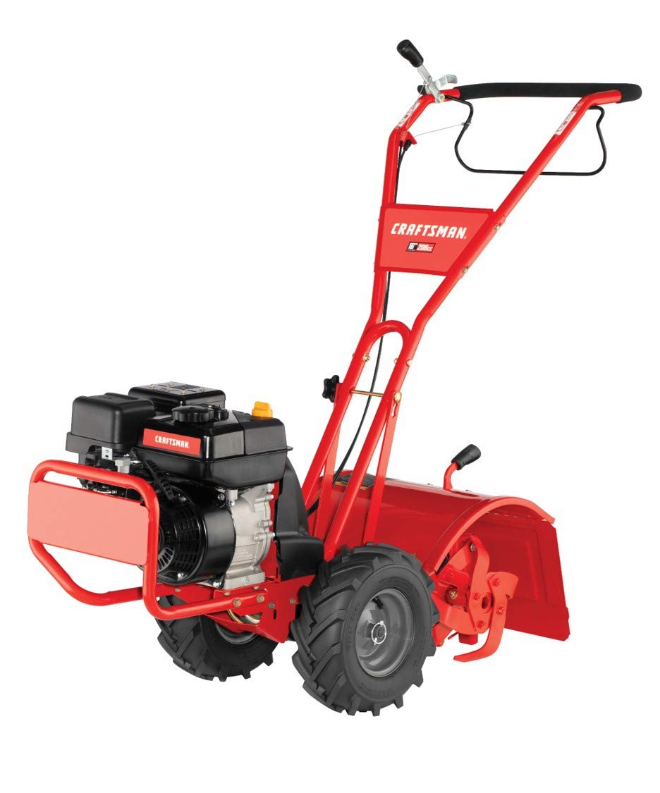 Craftsman Super Bronco 208cc 10-Inch Gas Powered Rear Counter Rotating Tine Tiller