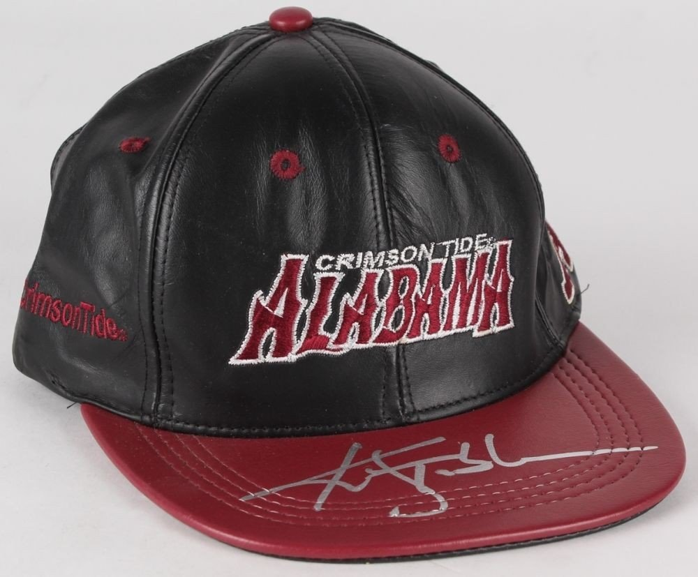 Ken Stabler Autographed Signed Alabama Crimson Tide Leather Snapback Hat JSA Certified