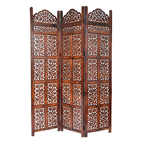 Panel Wood Screen Three (Calloway Mills Home & More 10322G04 Victoria 3 Panel Wood Screen)