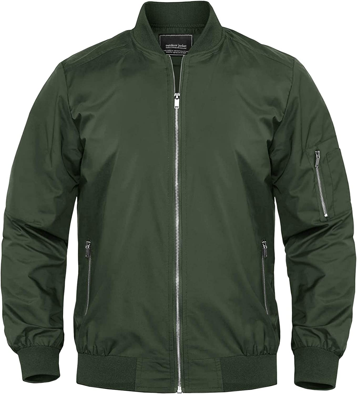 MAGNIVIT Men's Lightweight Bomber Jackets Full Zip Windbreaker Active Coat  Outwear at Amazon Men's Clothing store