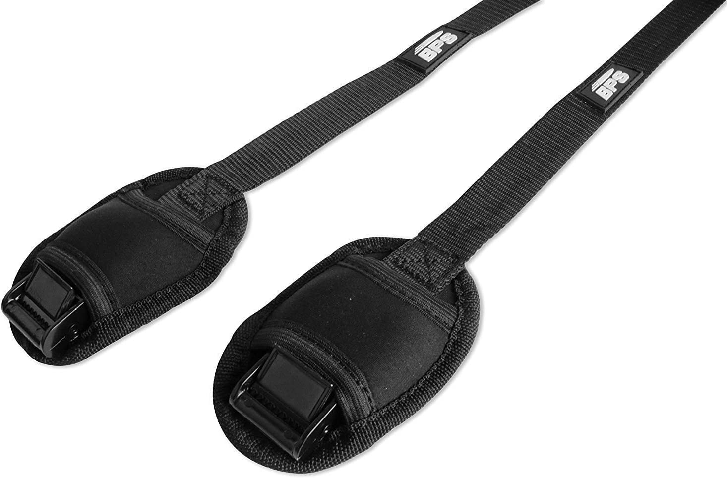 BPS No Scratch Premium Surf or SUP Tie Down Straps for Surfboards Kayaks and Canoes 2 Liter Dry Bag or Draw String Carry Bag Paddle Boards 1 Pair - Choose Size and Storage