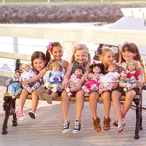 """618%2BubL9zHL - Adora Toddler Pin-A-Four Seasons 20"""" Girl Weighted Doll Gift Set for Children 6+ Huggable Vinyl Cuddly Snuggle Soft Body Toy"""