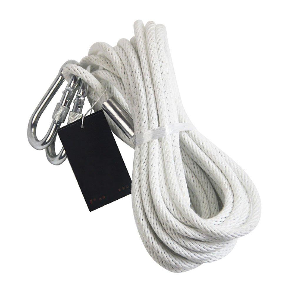 LDFN ロッククライミングロープ 耐火レスキューロープ 緊急ロープ ホームワイヤーコアロープ 50m*8mm 26450 B07D5GJFJN  ホワイト 50m*8mm