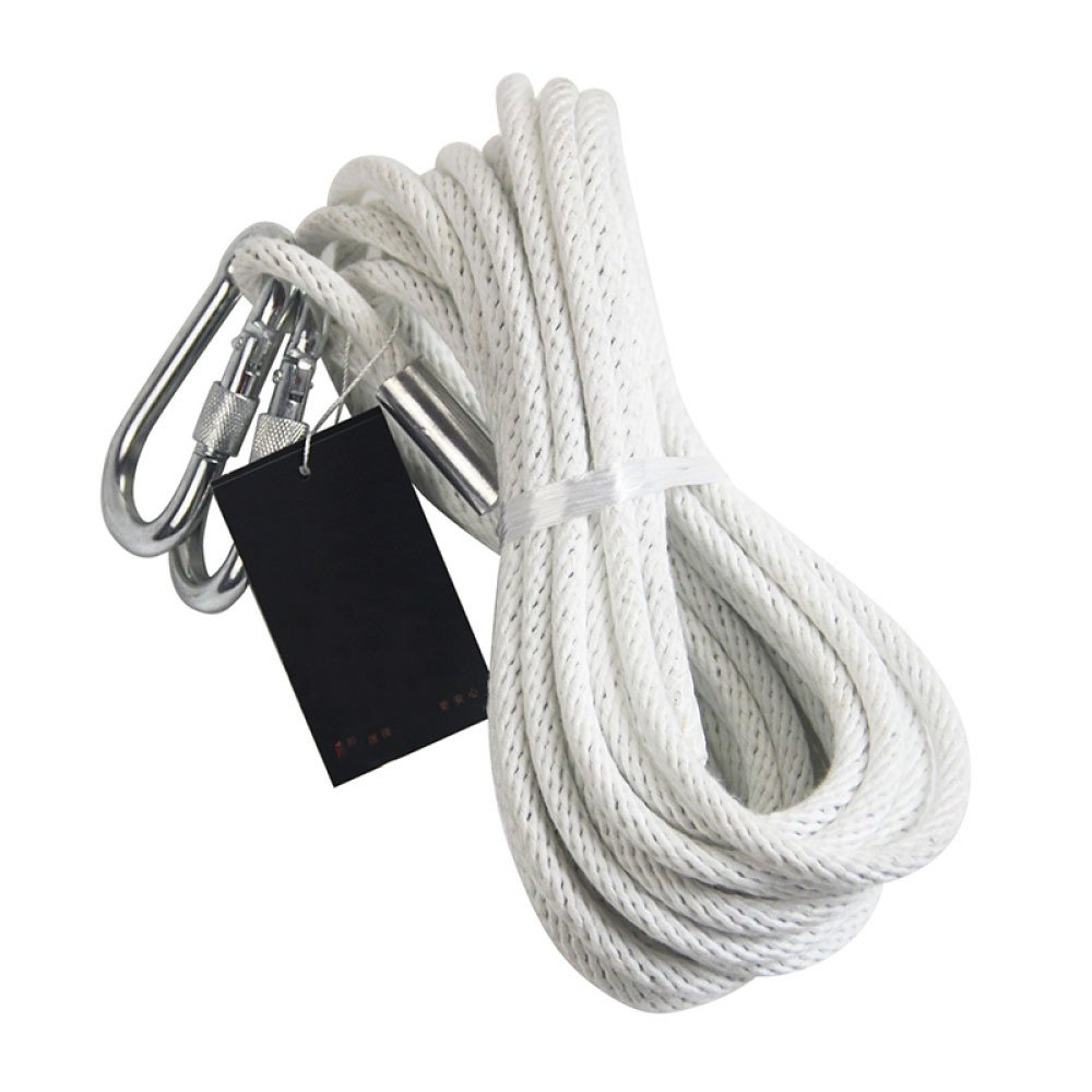 LDFN Rock Climbing Rope Fireproof Rescue Rope Escape Emergency Rope Home Wire Core Rope,White-20m8mm