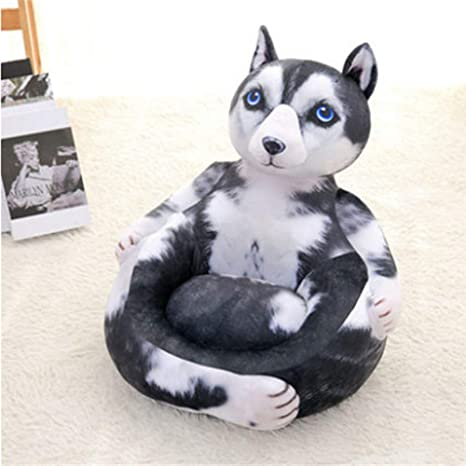 Sillón para Niños Emulational Animals Cat Dog Plush Mini ...